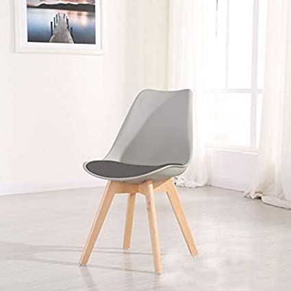 473139c0c1807 Homy Grigio Dining Chair DSW Dining Chairs Upholstered Side Chairs Mid  Century Modern Side Chairs with Beech Wood Legs, Set of 4 (Grey)