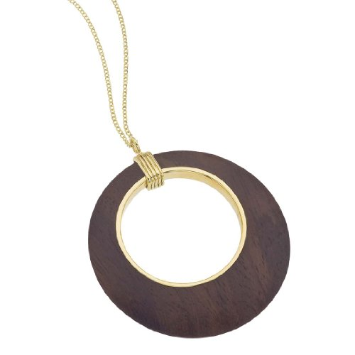 AX Jewelry The Branch 18K Vermeil Cutout Rosewood Pendant