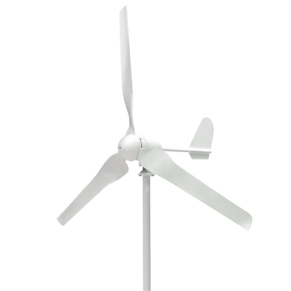 Vogvigo Wind Turbine Wind Generator 500W DC 24V Wind Turbine High Efficiency Wind Turbine Generator Kit 3 Blades Wind Energy (500W 24V)
