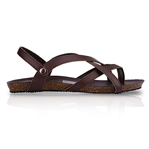 Sibba - sandalias chica mujer marrón