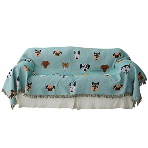 Sofa cover LE blanket Animal cartoon dog sofa towel Sand release Full cover...