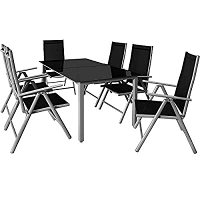 Deuba Garden 6 Seater Recliner Chair Dining Furniture