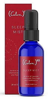 Calm Sleep Mist   Pillow Spray Essential Oils - Lavender, Frankincense, Chamomile and Clary Sage - 28 ml…