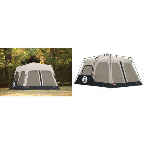 Coleman Accy Rainfly Instant 8 Person Tent Accessory, Black, 14x10-Feet and Coleman Instant 8 Person Tent, Black, 14x10-Feet Bundle