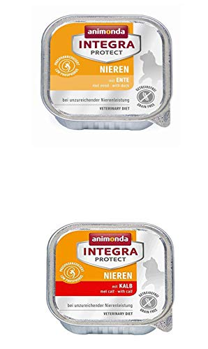 2 x 6 St. Gesamt 12 St. Animonda Katzenfutter Integra Protect Niere a 100g, Ente und Kalb (12,46 €/kg)
