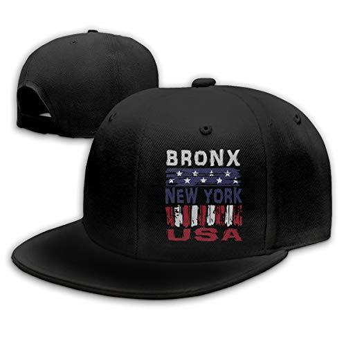 Bronx New York USA Mens Womens Adjustable Plain Baseball Cap Dad Hat Black