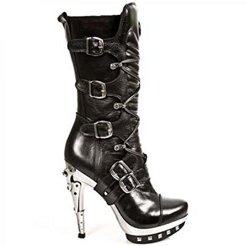 Nieuwe Rock Handgemaakte M Punk001 C50 Zwarte Vrouwen Laarzen