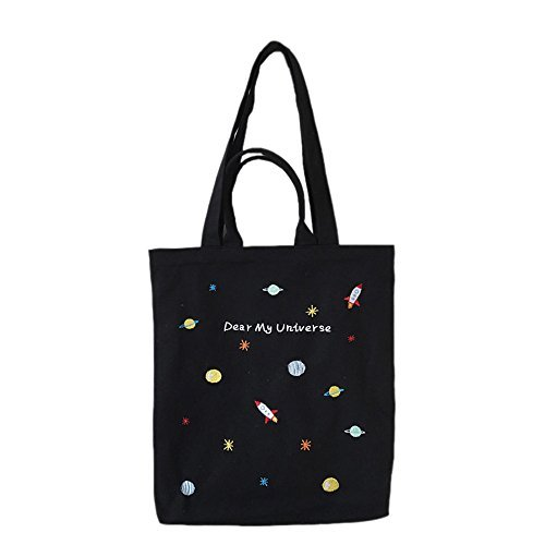 Canvas Tote Bag Black Print Design (16.14 x 15.35 inch) ASAPS