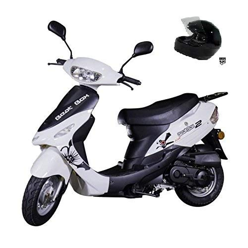 TAO SMART DEALSNOW Brings Brand New 50cc Gas Fully Automatic Street Legal Scooter TaoTao ATM50-A1 with DOT approved HELMET & TRUNK Included - - Blanco White