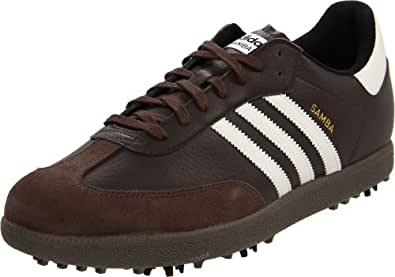 adidas Men's Samba Golf Shoe,Mustang Brown/Cream/Gum,8.5 M US