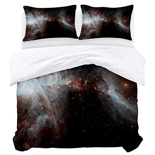 BABE MAPS 3 Piece Twin Size Duvet Cover Set Beautiful Space Scenery Bedding Sets Ultra Soft Breathable Extremely Durable Twill Plush for Childrens/Kids/Teens/Adults]()