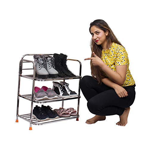 Parasnath Stainless Steel Shoes Stand  3 Layer Shoes Stand