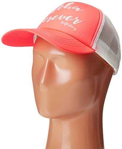 Billabong Junior's Aloha Forever Trucker Hat, Neon Coral, One Size