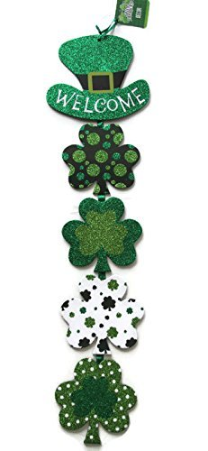 Glittery St. Patrick's Day Themed Hanging Welcome - Macy's Gift Deals Card