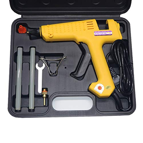 Hot Glue Gun Glue Gun Box 150W 200W 250W Hot Melt Glue Gun Adjustable Temperature Glue Gun with Long Nozzle Professional Glue Gun Tool Kit (150W-US Plug)