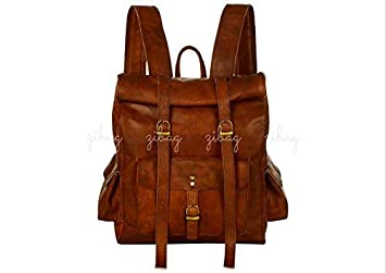 Men's Bags Luggage & Bags New Fashion Unisex 100% Genuine Vegetable Tanned Leather Backpacks Genuine Leather Vintage Backpack Brown Bags Male Female Fashion Backpack