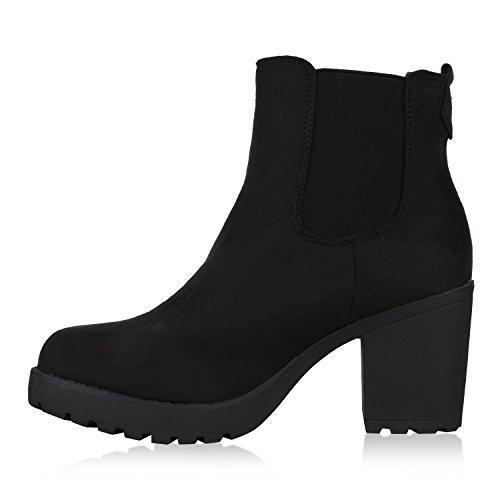 Femme Chelsea Amares Schwarz Bottes Stiefelparadies UEgqX5