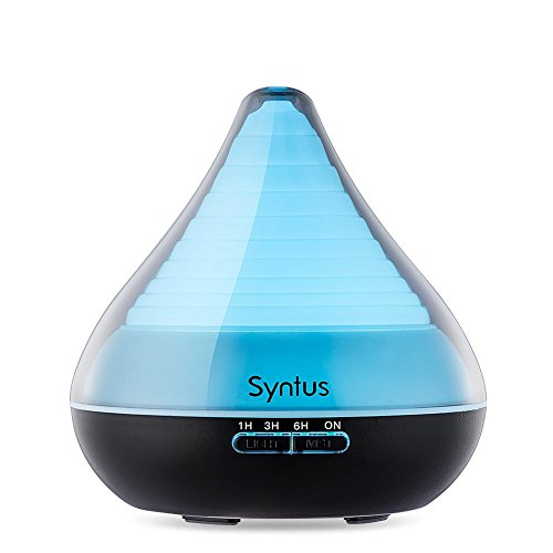 Syntus 300ml Essential Oil Diffuser Ultrasonic Aromatherapy Diffusers with 7 Color LED Lights, Timer Setting and Waterless Auto Shut-off