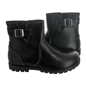 Birkenstock Women's Stowe Boot Black Leather Size 41 M EU