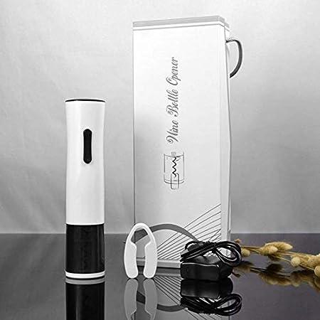 Xyfw Abrebotellas Eléctrico, Abrebotellas Recargable USB, Sacacorchos Eléctrico Profesional De Acero Inoxidable con Cortador De Aluminio Y Cable De Carga USB