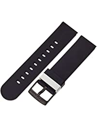 b&nd by Hadley Roma with MODE 20mm Silicone Black Watch Strap