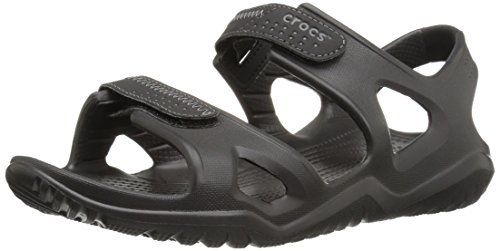 Crocs Men's Swiftwater River Sandal M Fisherman Black, 10 M US -