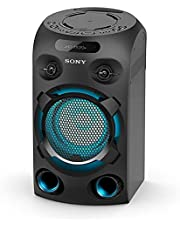 Sony MHC-V02 Compact High Power Party Speaker, One Box Music System with Bluetooth, Jet Bass Booster and Tripod Compatible, Black