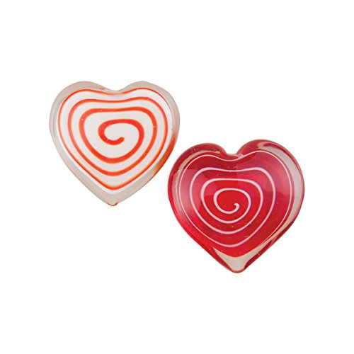 - GALLERIE II Mini Swirl Heart Paperweight A/2 Red