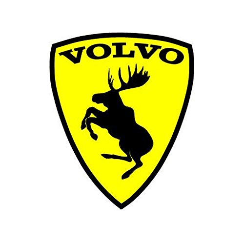 Volvo Prancing Moose Sticker Yellow 4 - Ferrari Symbol