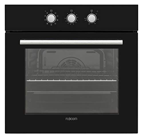 FUJICOM 65-L Built-in Oven - 9 Programs Including Active Turbo - Perfect for Cooking Baking & Grilling - Smooth Enamel Coating & Pop-Out Power Buttons for Easy Cleanup - A Energy Rated by FUJICOM