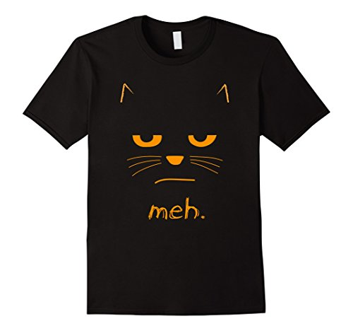 Mens Cat Costume Halloween (Mens Funny Halloween Cat t-shirt MEH XL Black)