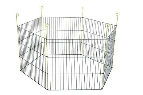 ZOLUX Hexagonal Parque Metal Exterior para roedores Gris 120 x 120 ...