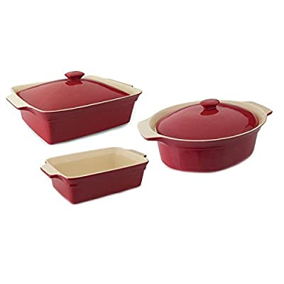 Berghoff Geminis 5 Piece Bakeware Set: Cov Rect, Cov Oval and Rect