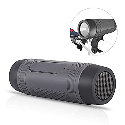 Luxsure® Wireless Shockproof Dustproof Water Resistant Bluetooth Speaker with Bicycle Mounting Bracket USB Port Charger Flash Light for Outdoor Sport