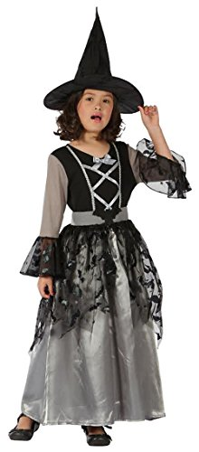 GUBA Big Girls' Sparkle Witch Halloween Grey Outfit Hocus Pocus Costume Large (10-12 Years) Sparkle Witch ()