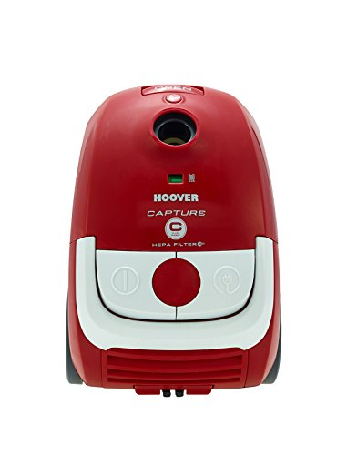Hoover Capture Cylinder Vacuum Cleaner, 2.3 L 700 W - Red and White