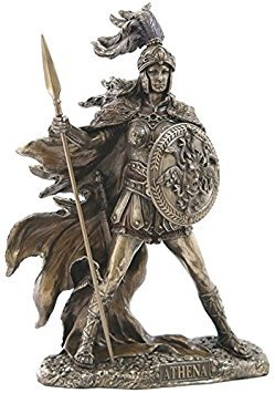 10.25 Inch Athena - Goddess of Wisdom and War Cold Cast Bronze Statue -  US, SS-US-WU75702A4