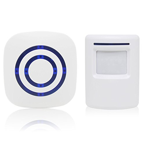 Cheapest Price! Wireless Driveway Alert, STYDDI Infrared Sensor Doorbell & Alarm with 1-Plug in Rece...