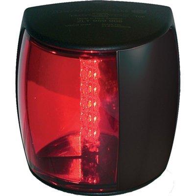 (HELLA Marine NaviLED PRO Port Navigation Lamp - 2nm - Red Lens/Black Housing)