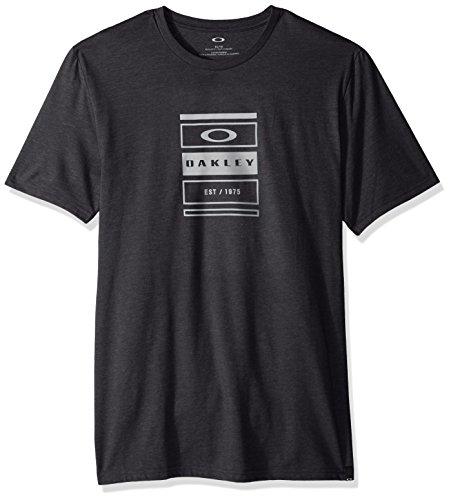 Oakley Men's Tri-Box Stack Tee, Blackout LT HTR, (Htr Box)