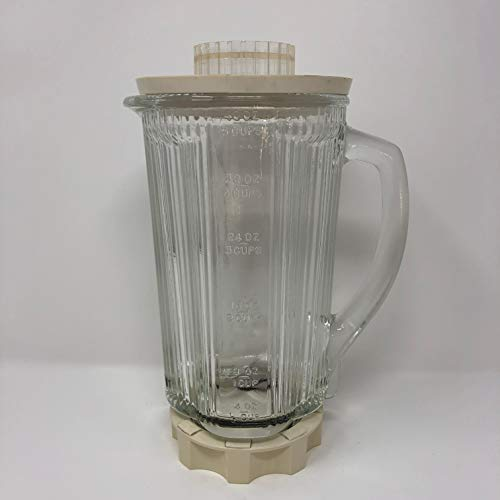 (Waring 40 Oz Glass Container w/ Lid)