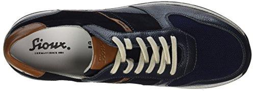 Sioux Rodon, Sneaker Uomo Blau (Night/Cognac-kombi)