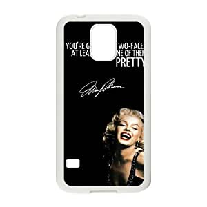 Customized Cover Case with Hard Shell Protection for SamSung Galaxy S5 I9600 case with Marilyn Monroe Quote lxa#902182