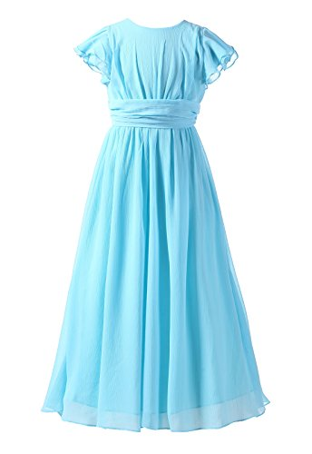 Happy Rose Bridesmaid Dress Prom Party Dresses Long Flower Girl's Dress