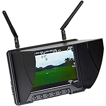 """Flysight Black Pearl RC801 5.8Ghz 7"""" HD Screen Diversity Monitor with Integrated Battery, 1024x600"""