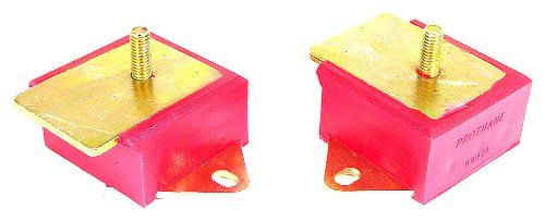 Prothane 1-501 Red 6 Cylinder Motor Mount Kit for Jeep CJ (Prothane Motor Mounts)