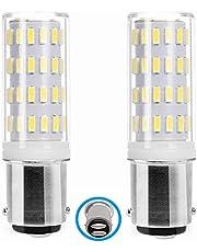 B15 LED 12V-24V lamp gloeilamp, B15d dubbel bajonet contact, 5W koud wit 6000K 40W equivalent