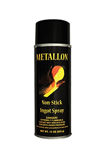 Metallon Non-Stick Ingot Mold Lubricant Spray Releasing Agent Clean Precious Metal Casting Gold Silver Cast Iron Steel - Release Lubricants Mold