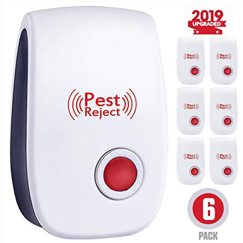 Ultrasonic Pest Repeller, New Pest Control Set of 6-Packs Electronic Plug in Repellent Indoor for Flea, Insects, Mosquitoes, Mice, Spiders, Ants, Rats, Roaches, Bugs, Non-Toxic, Humans & Pets Safe