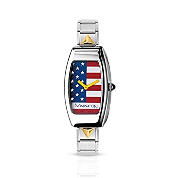 Armbanduhr TONNEAU mit Composable-Armband Edelstahl und 18K-Gold (001_USA)